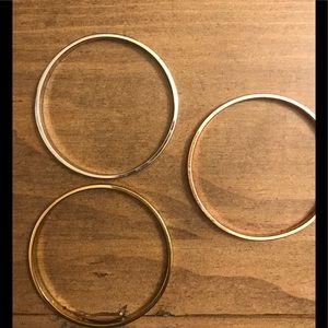 Set of 3 Kate Spade idiom bangle bracelets